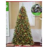 7.5ft pre lit Kennedy quick set up Christmas tree