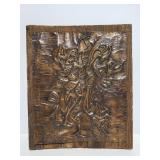 Wood and metal art piece