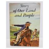 Vintage 1957 illustrated U.S. History book