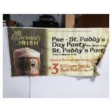 Large vinyl Killians beer/party advertising sign