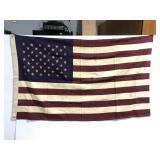 Vintage style United States wall flag