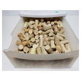 Bin full of wine corks