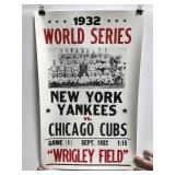 Reproduction 1932 World Series Yankees vs Cubs ad