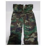 Military camo trousers