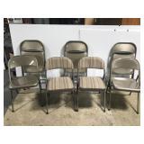 Set of 7 metal folding chairs