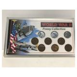 World War II coin penny collection