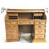 Red oak roll top desk