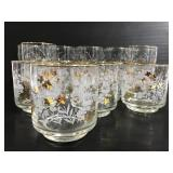 White and gold accent drinking glasses