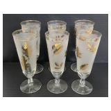 Set of 6 Mid-Century Libby Pilsner glasses