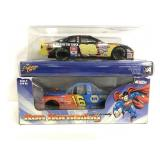 Nascar #88 & #16 cars in boxes