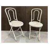 Folding patio bistro chairs