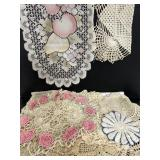 Lot of vintage crocheted lace doilies