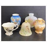 Lot of handpainted vintage porcelain miniatures