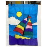 Sailboat outdoor flag