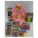 Lot of Easter goodies & light up egg sign