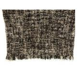 IKEA brown/grey soft bubble knit throw blanket