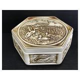 Vintage ceramic Avon ducks collector jar