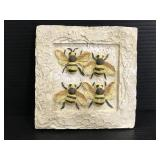 Bumblebee layered wall plaque