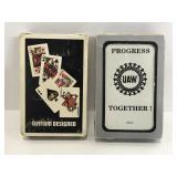 Vintage Chrysler & UAW playing card decks