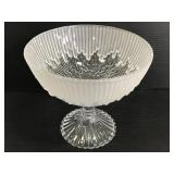 Vintage frosted drip glass compote