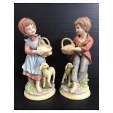 Pair of vintage narco Japan ceramic figures