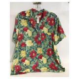 Jones New York petite Large Hawaiian shirt
