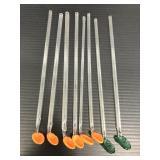 Vintage glass spoon straw stirrers