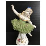 Porcelain ballerina figurine