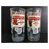 Danty jelly glasses with labels