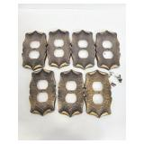 Brass electrical outlet face plates