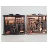 Coppercraft guild wall plaques