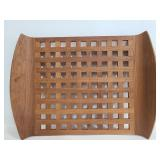Wood lattace tray