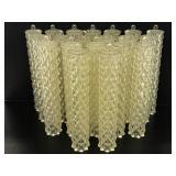 Twenty plastic hanging chandelier pieces
