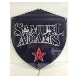 Samuel Adams light up acrylic sign