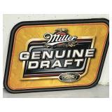 Miller Genuine Draft metal wall sign