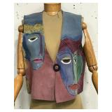 Hand painted signed vest