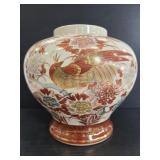 Vintage Japanese handpainted ceramic vase