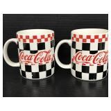 Pair of 1996 Coca-Cola ceramic mugs