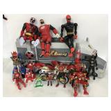 Collection of Bandai Power Rangers figures & more
