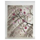 Original cherry blossom oil painting on canvas