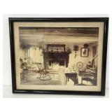 Framed vintage living room/ fireplace photo