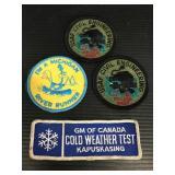 Four vintage patches