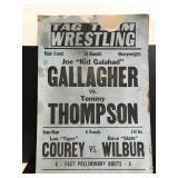 Vintage tag team wrestling poster