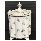 Godinger ceramic insects decorated canister