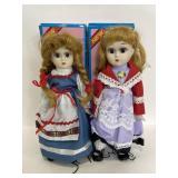 Vintage Danville Hungarian & Dutch porcelain dolls