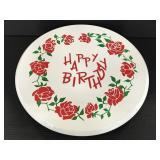 Vintage rotating music playing birthday cake plate