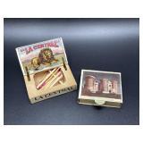 Pair of antique matchbooks