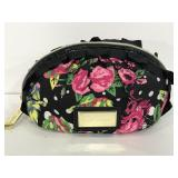 Betsey Johnson vinyl/ fabric floral cosmetic pouch