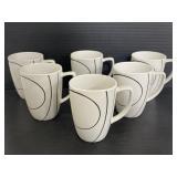 Set of 6 Corelle Coordinates porcelain mugs