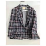 Vintage Pendleton virgin wool plaid blazer